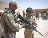 Cheryl Tweedy / Cole - Army outfit, in Afghanistan for the Pride of Britain Awards - 14th September 2011 x27UHQ