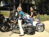 Tricia Helfer & Katee Sackhoff - Twitter Pictures on Their Motorcycles - May 27, 2012 (x3)